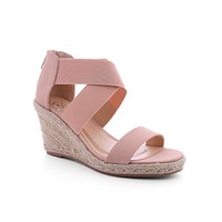 Blush DiDi Stretch Espadrille Wedges