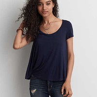 AEO Soft & Sexy Bar Back T-Shirt, Navy