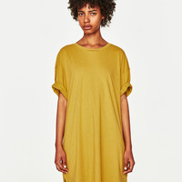OVERSIZED RIBBED T-SHIRT WITH RIPS DETAILS