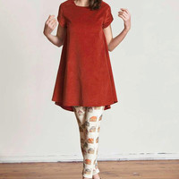 Red Cord A-line Dress