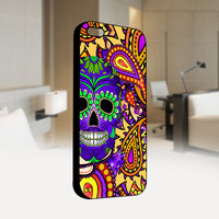 Day of The Dead - Sugar Skull Paisley - Dia De Los Muertos - Photo on Hard Cover For Iphone 4/4S Case, iPhone 5 Case - Black, White, Clear
