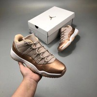 air jordan 11 low aj11 rose gold