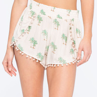 OTHERS FOLLOW Tropical Print Womens Shorts | Shorts
