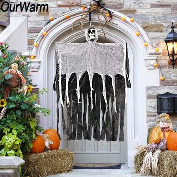 OurWarm 100cm Halloween Hanging Ghost Decoration Haunted House Props Escape Horror Halloween Decorations for Home Party Supplies