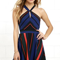 Days of the Week Black Striped Dress