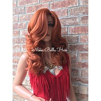 Ginger Full Wig Human Hair Blend