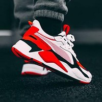 PUMA RS-X Reinvention Puma men's shoes women's shoes couple shoes retro old shoes black red white