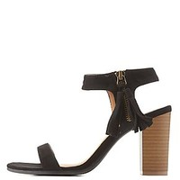 QUPID FRINGED TWO-PIECE SANDALS