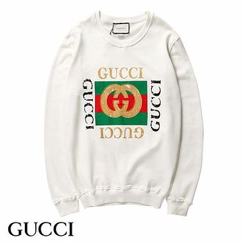 GUCCI Women Men Fashion Hooded Top Pullover Sweatshirt Hoodie