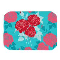 "Anneline Sophia ""Summer Rose Red"" Blue Aqua Place Mat"