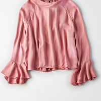 Don't Ask Why Tie Back Top, Mauve