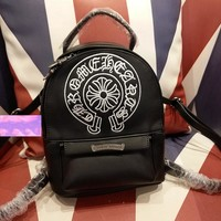 Trendsetter Chrome Hearts Casual Shoulder Bag School Backpack Travel Bag
