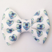 Star Wars R2-D2 is Love Handmade Bow (Handmade Bow / Bow Tie / or Headband)