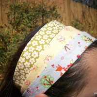Fox and Apples with Daisies and Strawberry Flowers Headband Wardrobe Set of Three