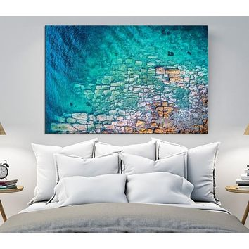 Large Abstract Wall Art Marble Canvas Print Abstract Watercolor Art Oil Style Painting