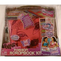 Bratz Fashion Scrapbook Kit Patterned Foil Paper Stickers Acid Free Glitter Glue