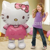 New Large Hello Kitty Cat Birthday Decoration Wedding Party Supplies Inflatable ballon Air Foil Balloons KT Classic toys globos