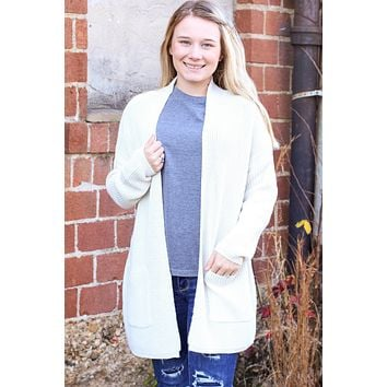 {Ivory} Favorite Knit Cardigan - Size LARGE