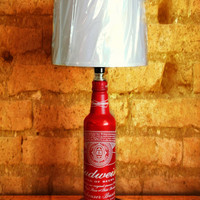 Budweiser/Bud Light Aluminum Bottle Lamp Complete with Lamp Shade - The Mancave Essential