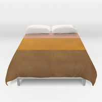 Patina Color Block Rose Gold Duvet Cover by Beautiful Homes