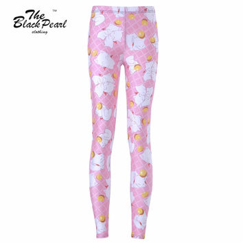 White Angel Pink Sports Pants for Women with PLus Sizes