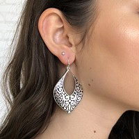 Treasure Chest Silver Earrings