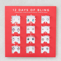 AEO 12 Days of Bling Earring Set, Mixed Metal