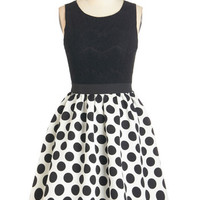 Ryu Vintage Inspired Mid-length Sleeveless Fit & Flare Primed to Party Dress
