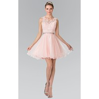 Pink black sheer tulle Cocktail Dresses Homecoming Dresses Beaded Prom Party Gowns Short mini high fashion cocktail dress 2017
