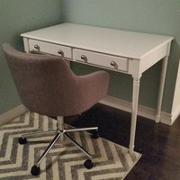 Home Decorators Collection, Crisp 2-Drawer Writing Desk in White, HO8800 at The Home Depot - Mobile