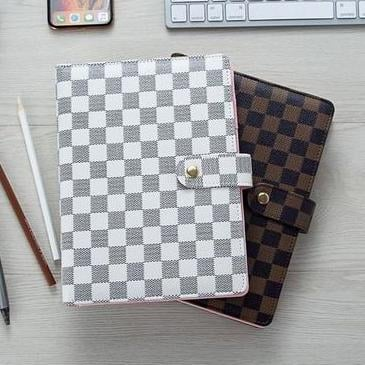 Image of Louis Vuitton LV Hot Selling Soft Leather Notebook Memo Business Office White Collar Student Notebook Book
