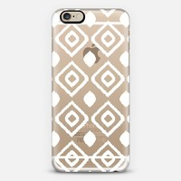 WHITE IKAT - CRYSTAL CLEAR PHONE CASE iPhone 6 case by Nika Martinez | Casetify
