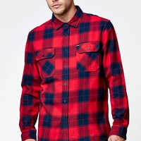 Rip Curl Ruggles Long Sleeve Button Up Plaid Shirt - Mens Shirts - Red