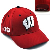 Top of the World Wisconsin Badgers Triple Conference Baseball Cap - Adult, Size: One Size (Red)