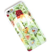 Elephant iPhone 6+ Case Elephant on Flower Wooden Floor