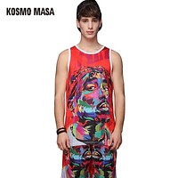 Summer 3d Printing Tank Top Shorts  Suit For Men Tank Tops Men's Sets Polyester Jersey Tracksuits