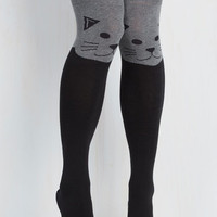 Dorm Decor Fur the Win Thigh Highs in Cat Size OS by ModCloth