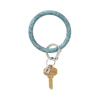 Oventure - Blue Frost Confetti Big O Silicone Key Ring