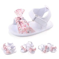 Newborn Baby Girl Bowknot Sandals Princess Shoes Soft Sole Prewalker Slipper US