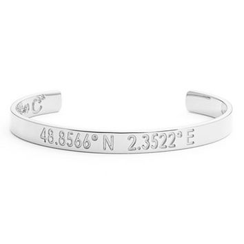 Women's Coordinates Collection 'Compass - Legend' Engraved Cuff