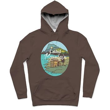 Mountain Tavern Trendy All-Over Print Solid Cork Hoodie