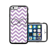 RCGrafix Brand forever young violet Chevron Black iPhone 6 Case - Fits NEW Apple iPhone 6