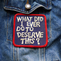 Jacket Patch, Vintage Applique Sew On Patch, Retro Patch for Jacket, Funny Patch, Jeans Patch, Embroidered Badge