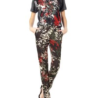 Printed Tapered Trousers   Cédric Charlier   Avenue32