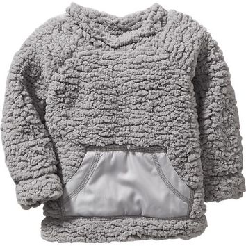 Old Navy Mock Neck Faux Shearling Top For Baby