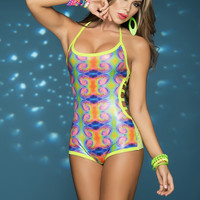 New Psychedelic Rave Romper.