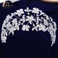 Flower Full Cubic Zircon Tiara