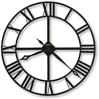 "14""H Lacy II Wall Clock Wrought Iron"