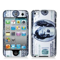 Electromaster Hundred Dollar Benjamin 2d Hard Snap-on Crystal Skin Case Cover Accessory for Ipod Touch 4th Generation 4g 4 8gb 32gb 64gb
