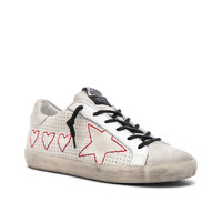 Golden Goose Hearts and Star Superstar Sneakers in White | FWRD